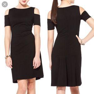 NUE by shani Black cold shoulder Shape wear dress